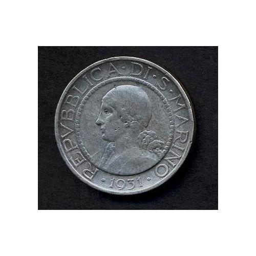 SAN MARINO 5 Lire 1931 AG