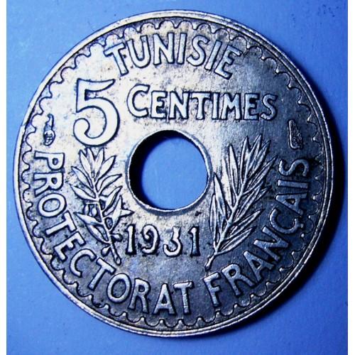 TUNISIA 5 Centimes 1931