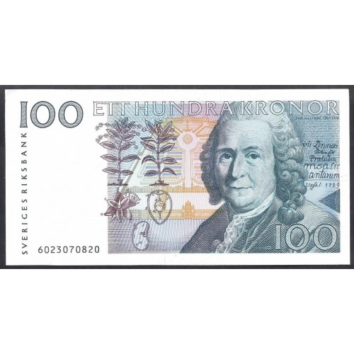 SWEDEN 100 Kronor 1986