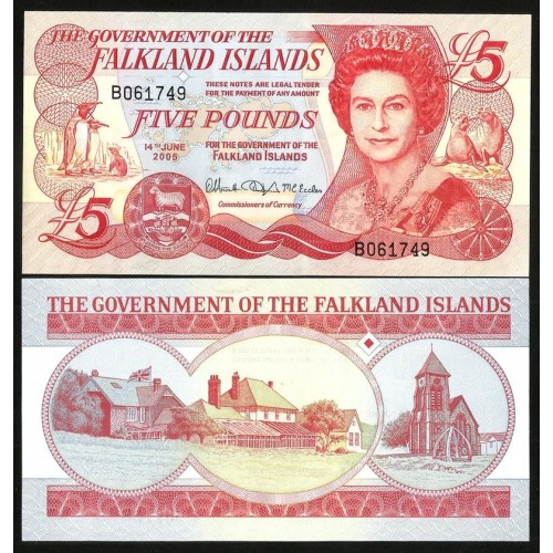 FALKLAND ISLANDS 5 Pounds 2005