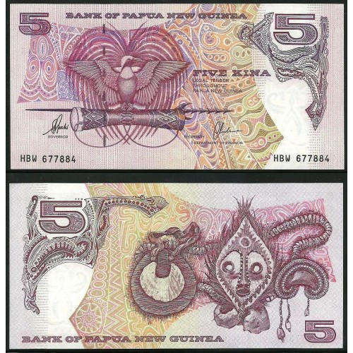 PAPUA NEW GUINEA 5 Kina 1997