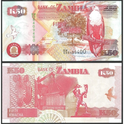 ZAMBIA 50 Kwacha 2008