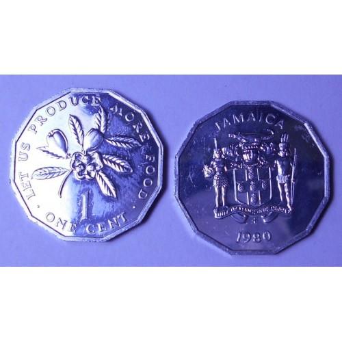JAMAICA 1 Cent 1980 FAO