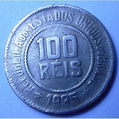 BRAZIL 100 Reis 1935