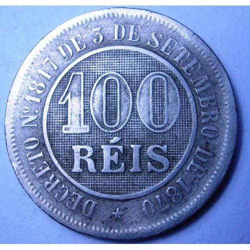 BRAZIL 100 Reis 1887