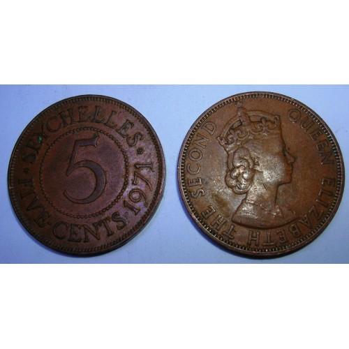 SEYCHELLES 5 Cents 1971