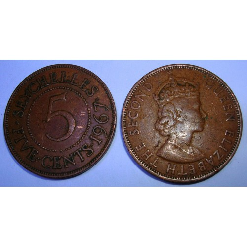 SEYCHELLES 5 Cents 1967