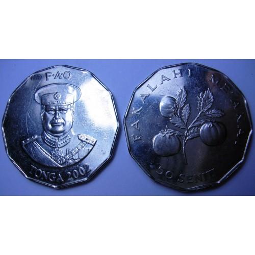TONGA 50 Seniti 2002 FAO