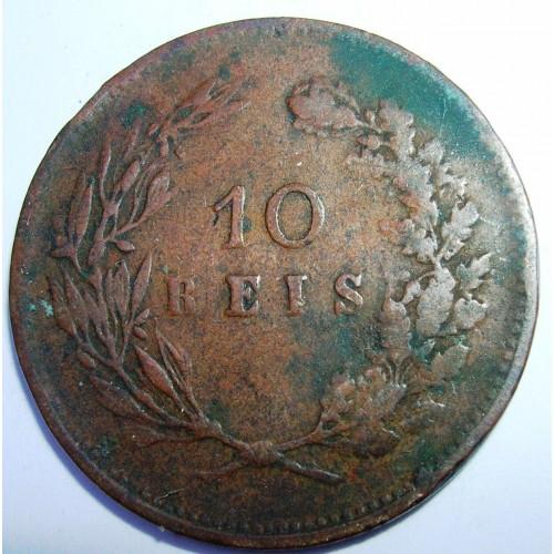 PORTUGAL 10 Reis 1891