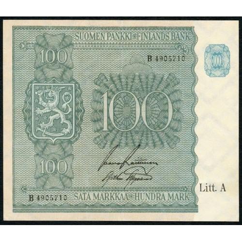 FINLAND 100 Markkaa 1945...