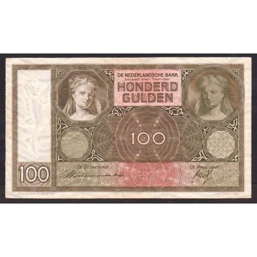 NETHERLANDS 100 Gulden 1939