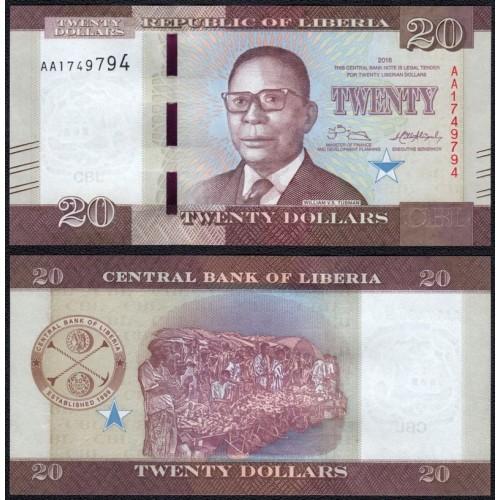 LIBERIA 20 Dollars 2016