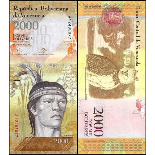 VENEZUELA 2000 Bolivares 2016