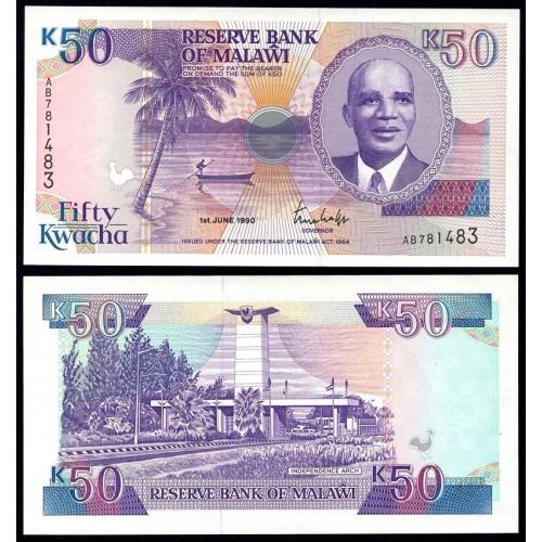 MALAWI 50 Kwacha 1990
