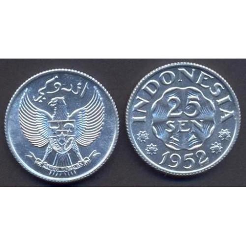 INDONESIA 25 Sen 1952