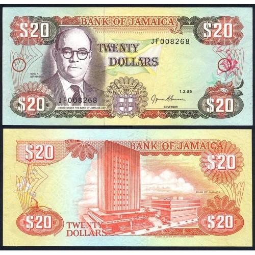 JAMAICA 20 Dollars 1995
