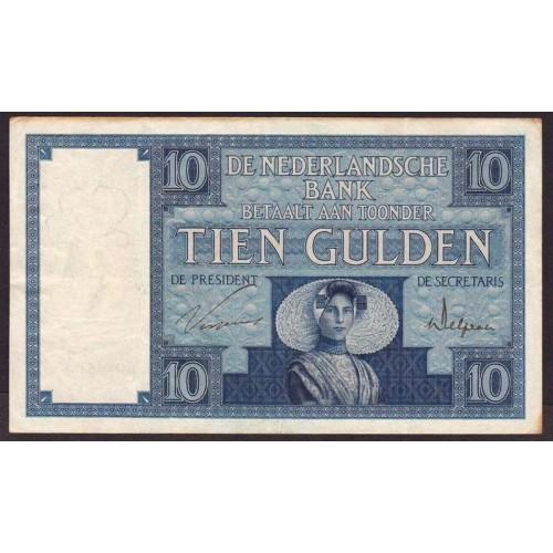 NETHERLANDS 10 Gulden 1927