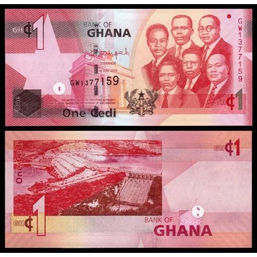 GHANA 1 Cedi 2015