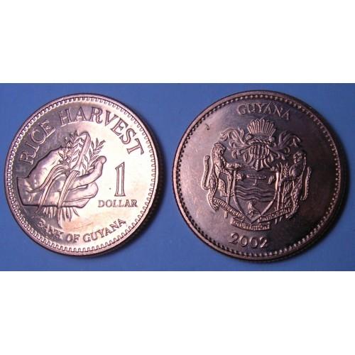 GUYANA 1 Dollar 2002