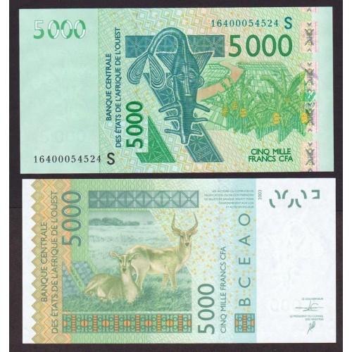 GUINEA BISSAU (W.A.S.) 5000...