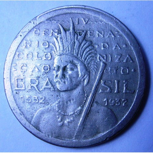 BRAZIL 100 Reis 1932 Ann.of...