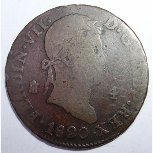 SPAIN 4 Maravedis 1820