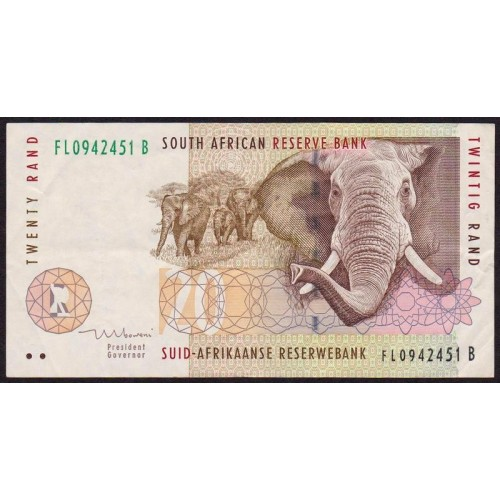 SOUTH AFRICA 20 Rand 1993