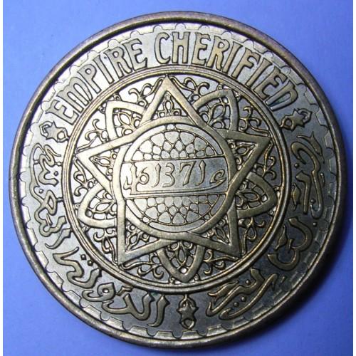 MOROCCO 50 Francs AH 1371