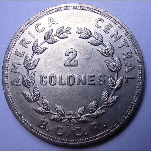 COSTA RICA 2 Colones 1972