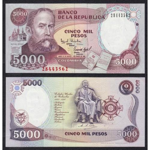 COLOMBIA 5000 Pesos 03.01.1994