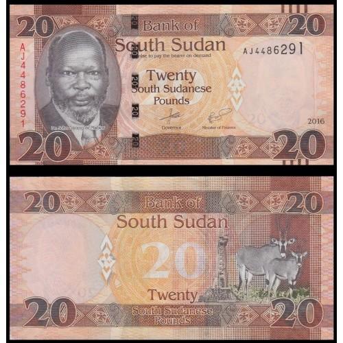 SOUTH SUDAN 20 Pounds 2016