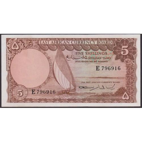 EAST AFRICA 5 Shillings 1964