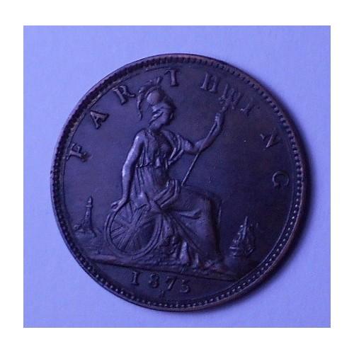 GREAT BRITAIN 1 Farthing 1875H