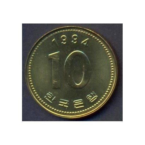 SOUTH KOREA 10 Won 1994