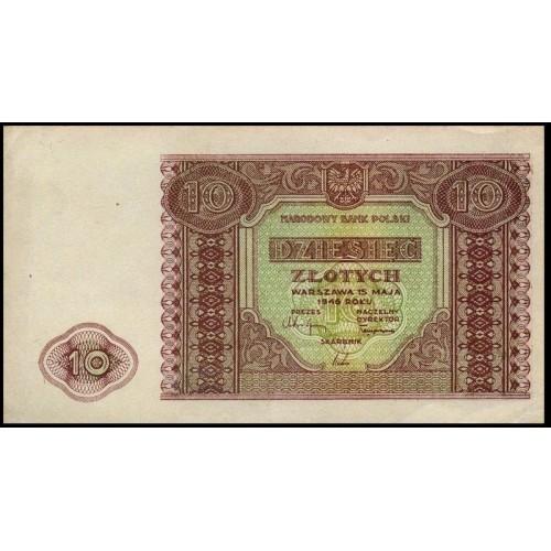 POLAND 10 Zlotych 1946