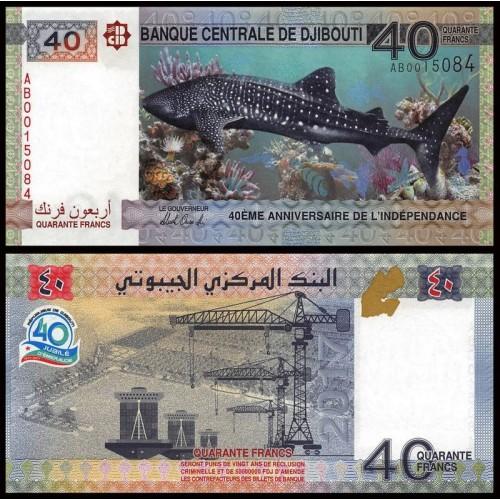 DJIBOUTI 40 Francs 2017...