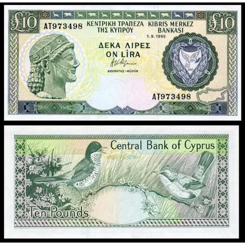 CYPRUS 10 Pounds 1995