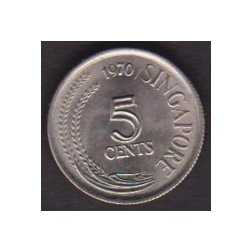 SINGAPORE 5 Cents 1970