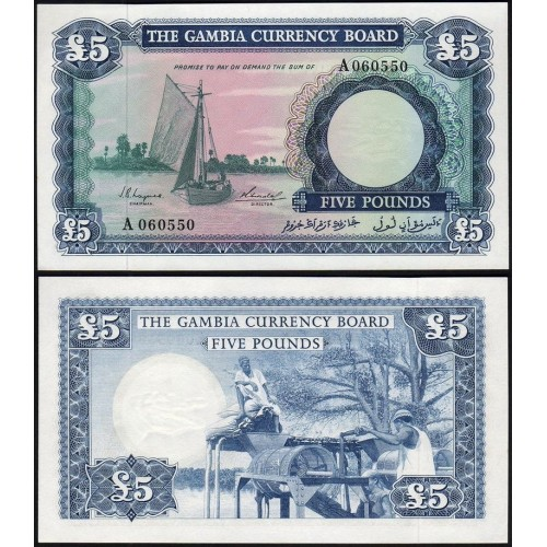 GAMBIA 5 Pounds 1965