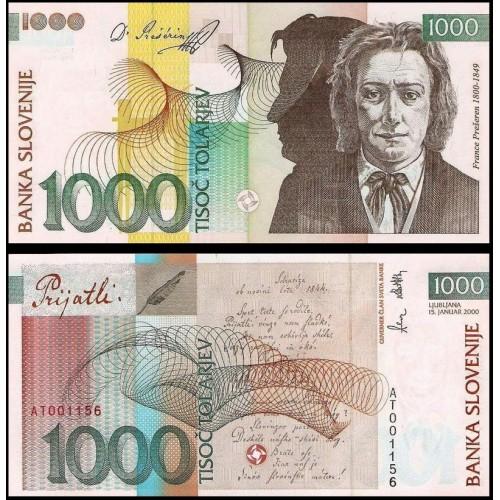 SLOVENIA 1000 Tolarjev 2000