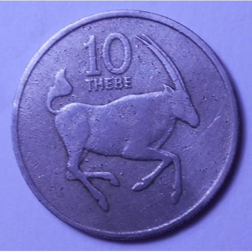 BOTSWANA 10 Thebe 1980