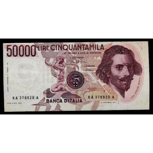 50.000 Lire Bernini 1°...