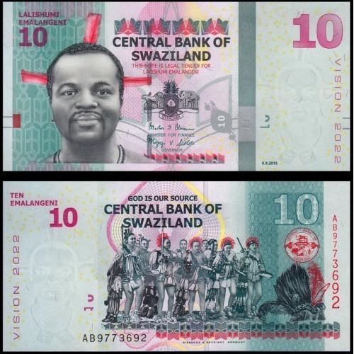 SWAZILAND 10 Emalangeni...