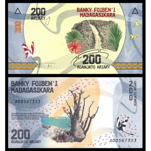 MADAGASCAR 200 Ariary 2017