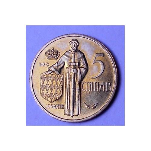 MONACO 5 Centimes 1977 rare