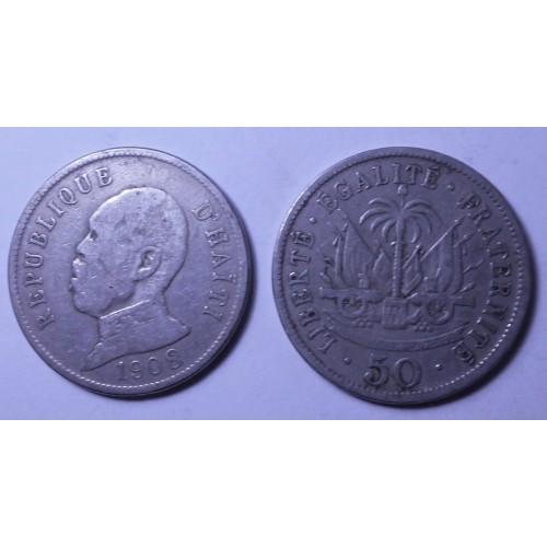 HAITI 50 Centimes 1908...