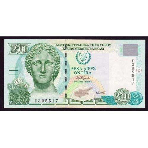 CYPRUS 10 Pounds 1997