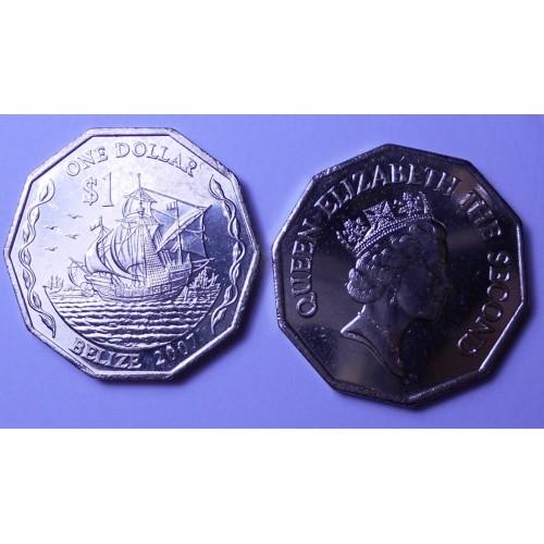 BELIZE 1 Dollar 2007