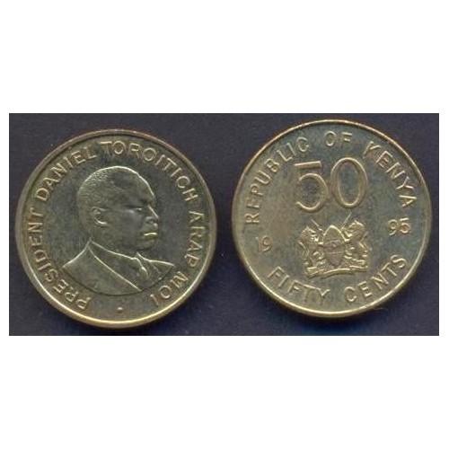 KENYA 50 Cents 1995