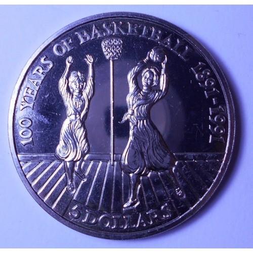 NIUE 5 Dollars 1991...